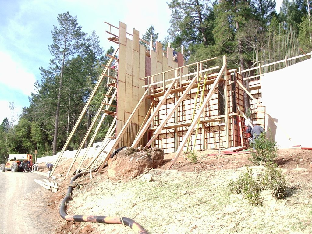This structure isn't going anywhere.  Hillside foundation at Cade Winery by SLF Concrete