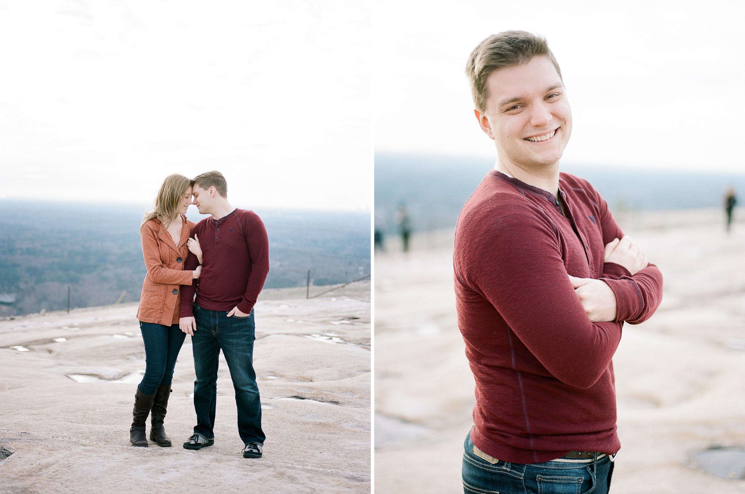 Engagement Picture on the mountain | Wynona Benson Photography