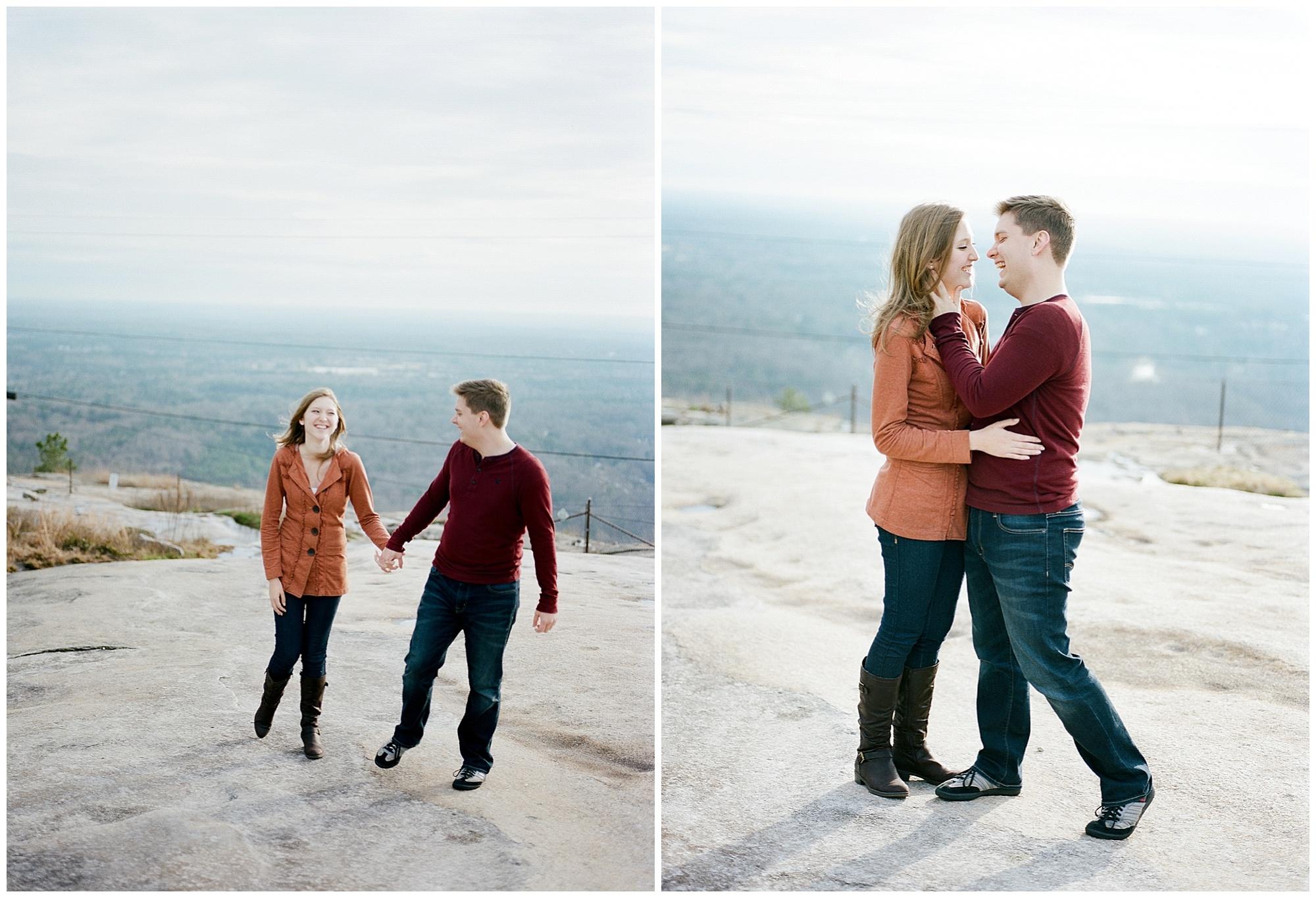 Mountain Top Engagement | Wynona Benson Photography