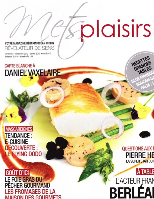 """""""METS PLAISIRS"""" - Légine au foie gras & Carpaccio de chouchoux"""
