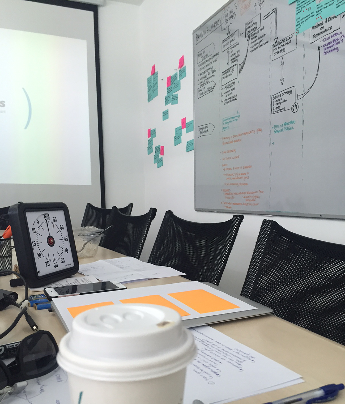 LED TEAMMATES THROUGH THE GV DESIGN SPRINT TO JUMP START THE PROJECT. 5 DAYS, LOTS OF COFFEE, POST IT NOTES GALORE.
