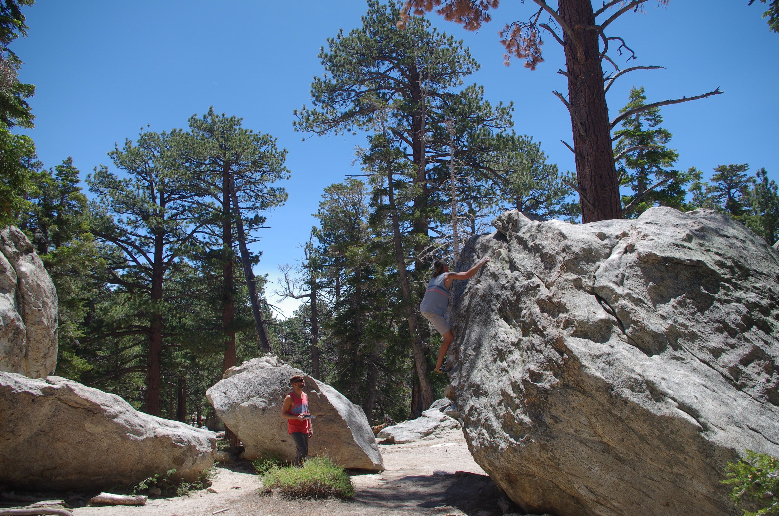 Glacier strewn boulders cover the mountain and there are hundreds of classic problems to spend your summers on with a seasons pass for the tram.  Mount San Jacinto State Park, California
