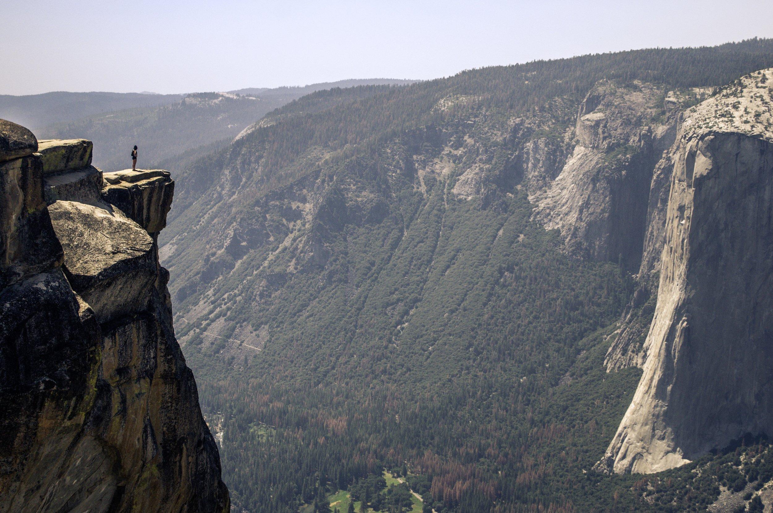 Taft Point. Yosemite National Park, California.