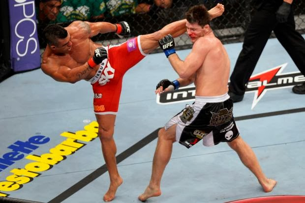 Vitor Belfort KO's Michael Bisping in spectacular fashion