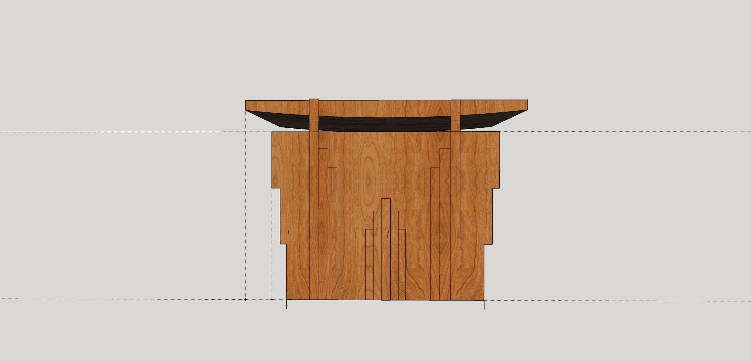 Floating art deco podium
