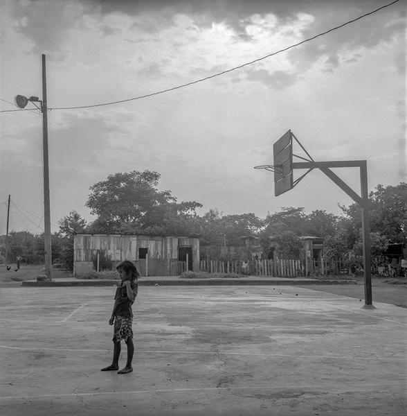 Boy on a Playground