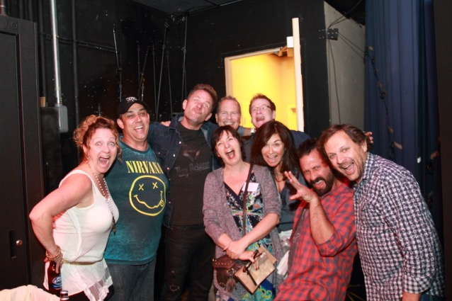 Photo by Patrick Maciel—Frankie Pines, Rick Barker, Aaron Benward, Jonathan Watkins, Suzan Koc, Clay Mills, Me, Travis Howard, Marty Dodson