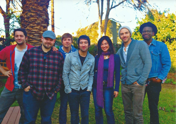 Songwriter/producer Ian Kirkpatrick and Plain White T's: Michael Retondo,Dave Tirio, Tom Higgenson, (Me), Tim Lopez, De'Mar Hamilton.