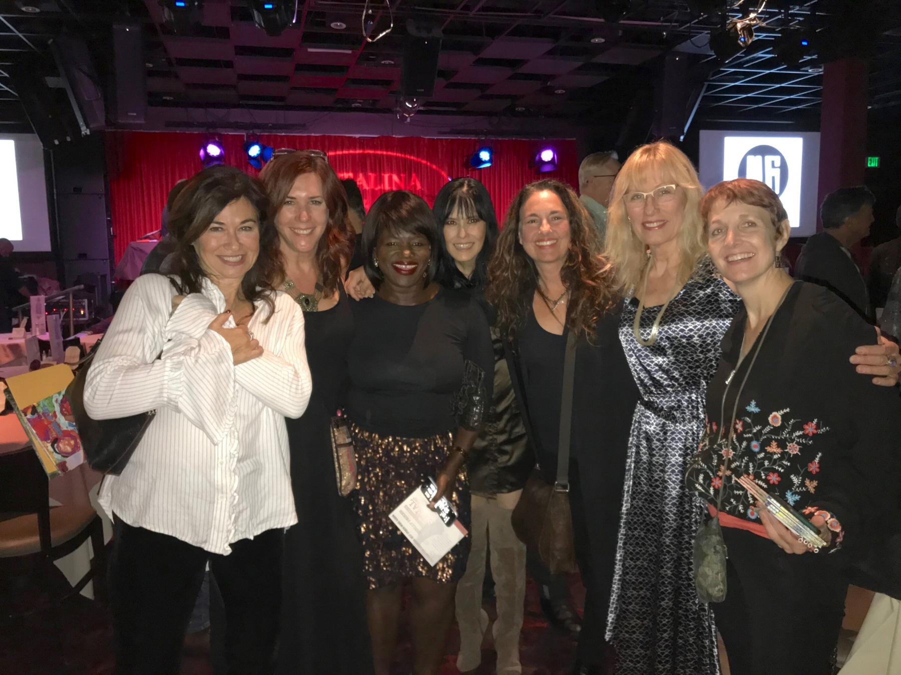 Last night at the Catlina Club w/Amanda Abizaid,Douyé,Diana Dilee Maher, Starr Parodi, Darlene Koldenhoven, Susan Picking