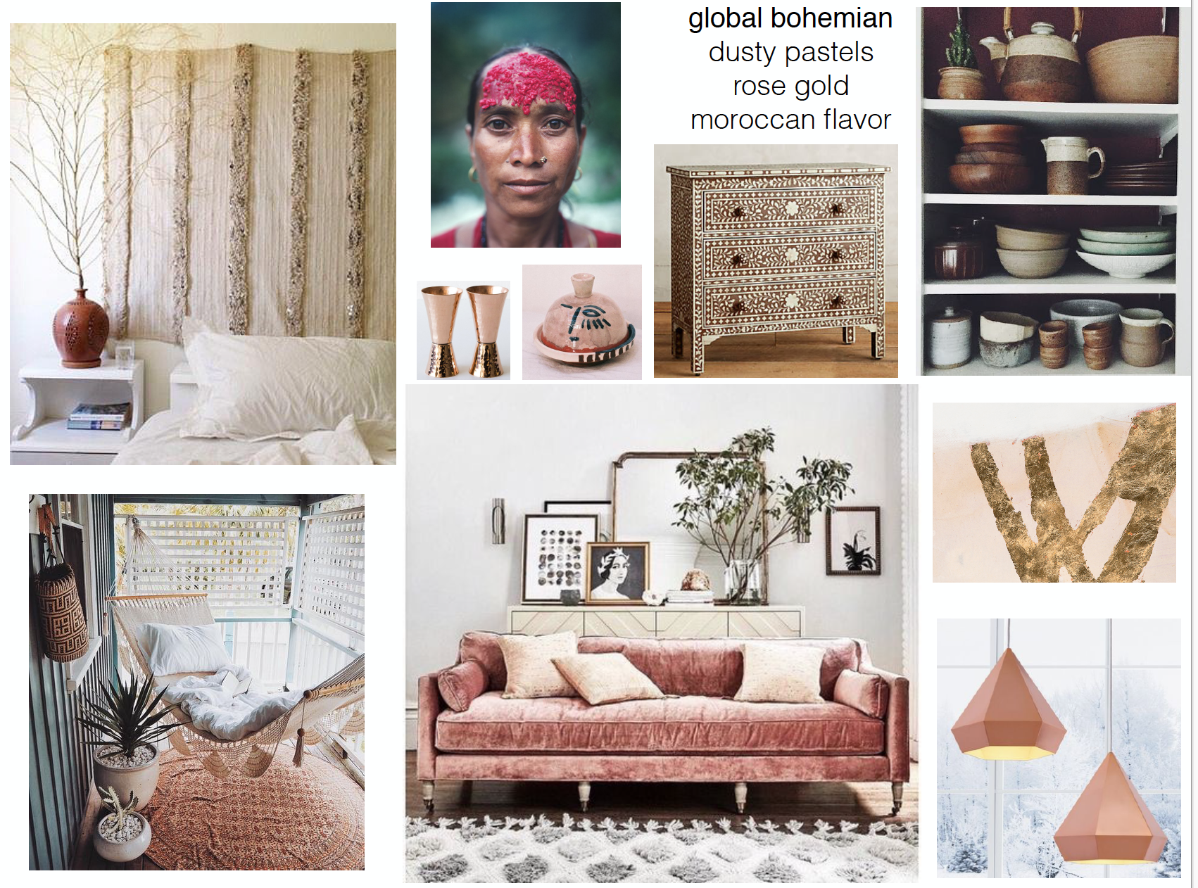 concept boards - Global Bohemian