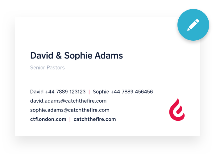 FRONT - Couples Business Card