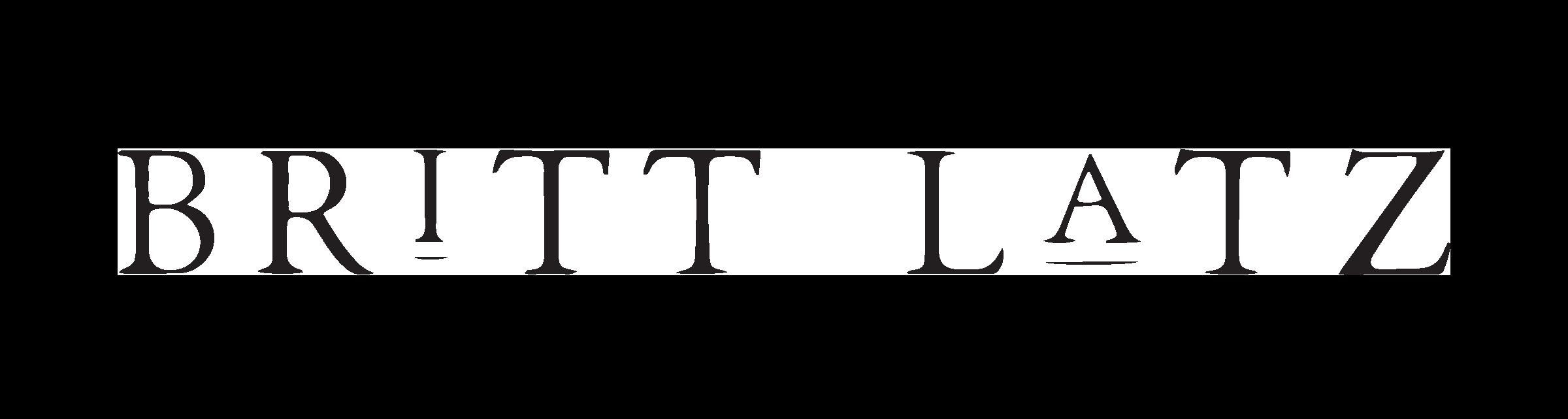 Primary Logo for Britt Latz by Drop Cap Design