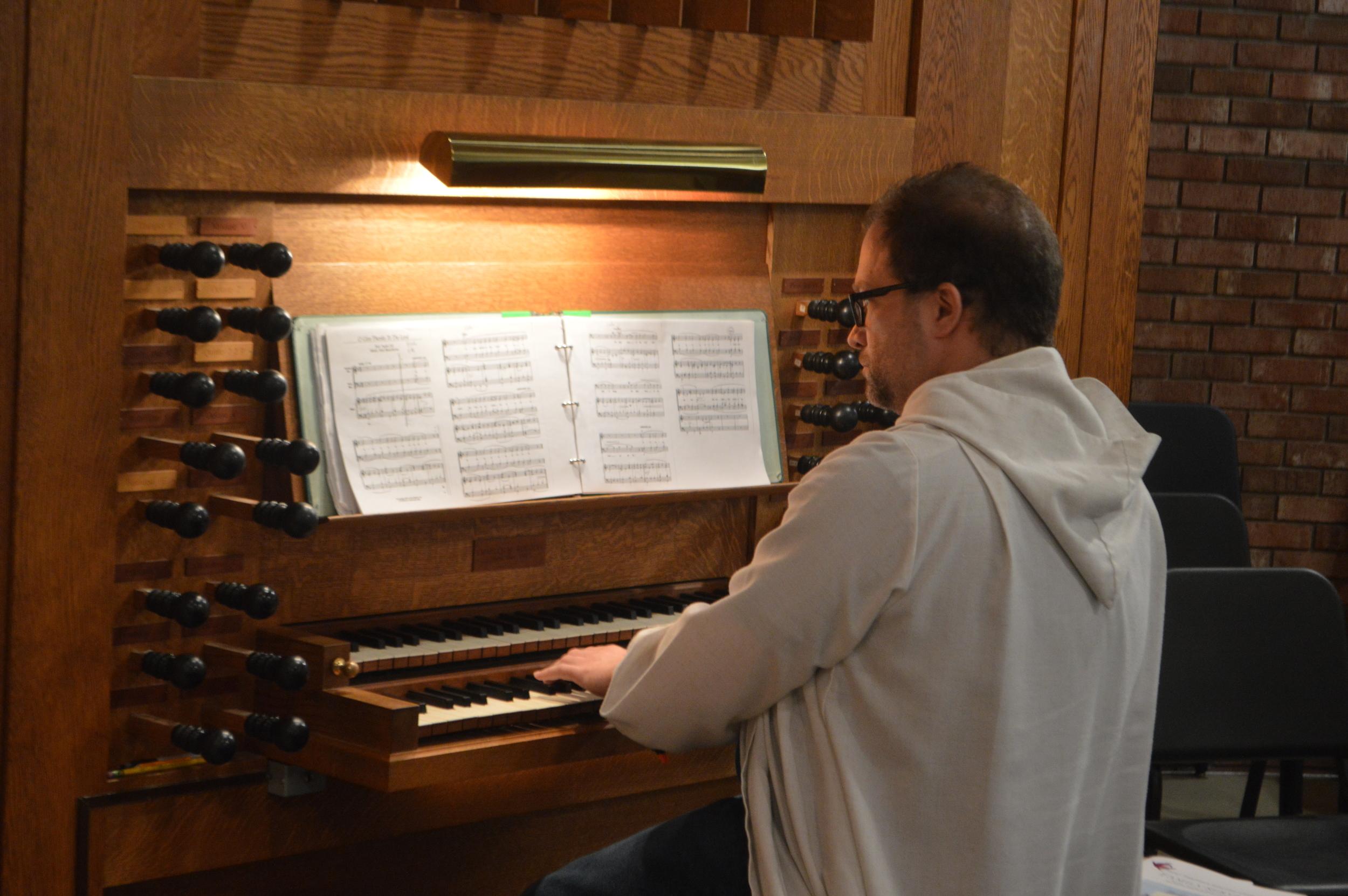 St. Timothy's assistant organist John Crandall