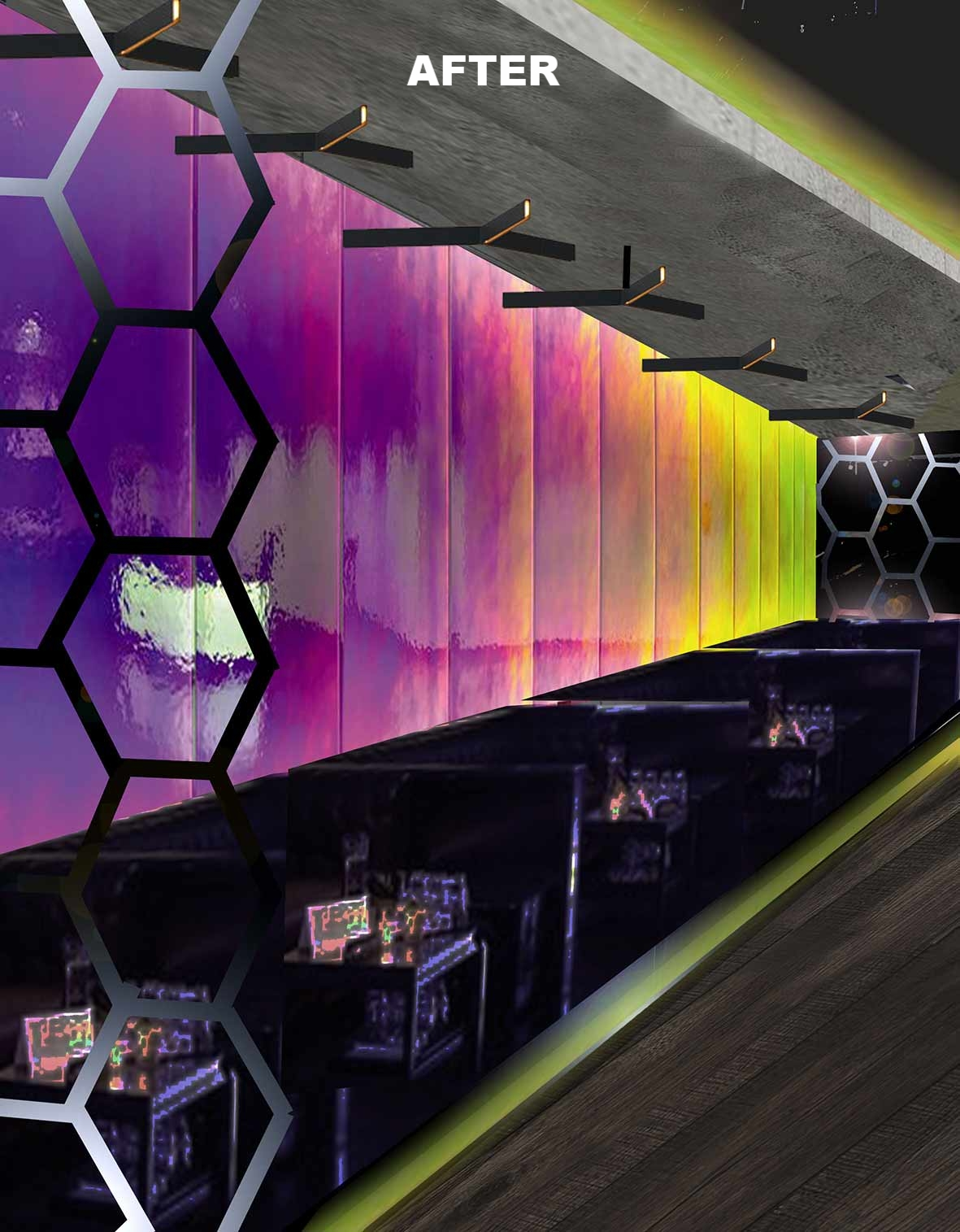 DICHROIC GLASS FEATURE WALL