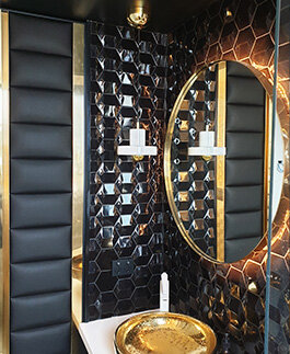 BLACK GOLD BATHROOM