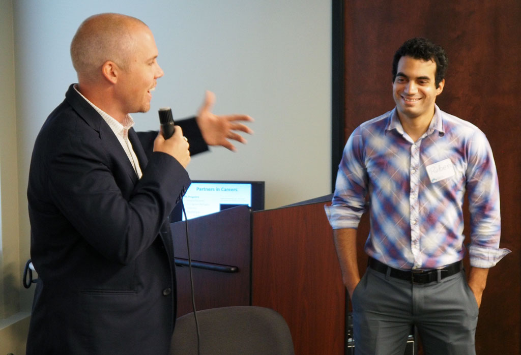 Sand introduces Ruben Estrada, one of the Emerging Leaders Intership students.