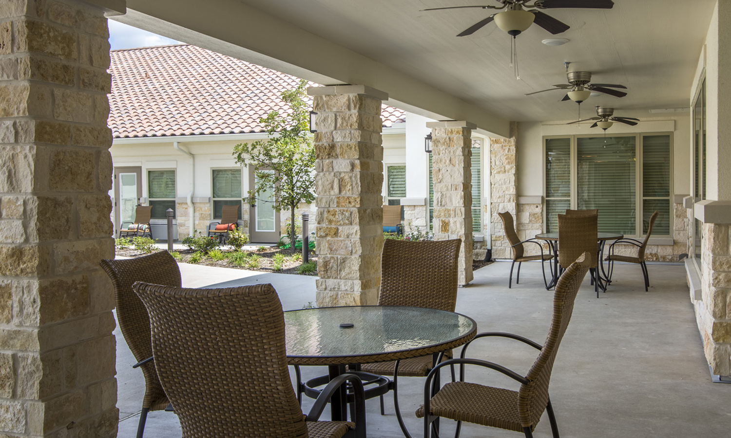 Pi Architects The Medical Resort at Willowbrook Skilled Nursing Picnic Area.jpg