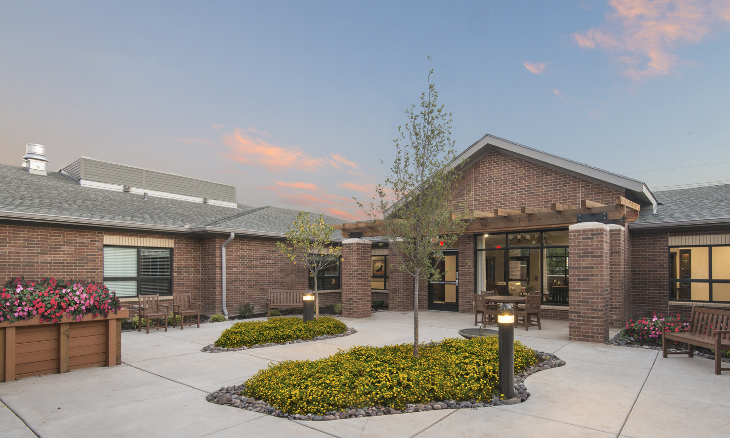 Sycamore Memory Care Center Amarillo Texas Pi Architects Courtyard