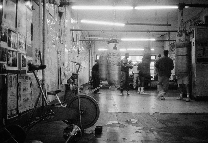 Times Square Gym Interior,  1993 Selenium toned gelatin silver print, printed 2008 16 x 20 inches,  edition of 20