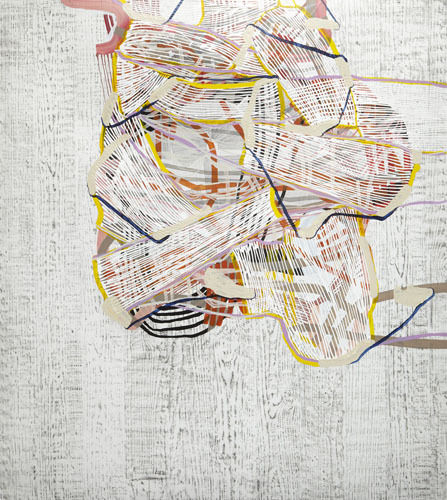 Swathe , 2012 Graphite, fluid acrylic and ink on yupo 60 x 55 inches
