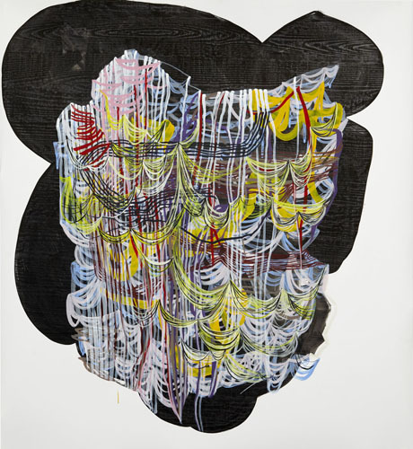 Fray , 2012 Graphite, fluid acrylic and ink on yupo 60 x 55 inches