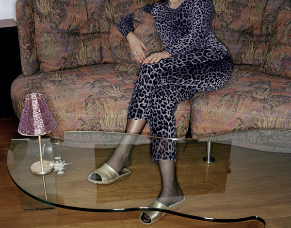 Woman on Sofa,  2002 Pigment print on heavy rag paper 26 1/2 x 33 3/4 inches, edition of 5