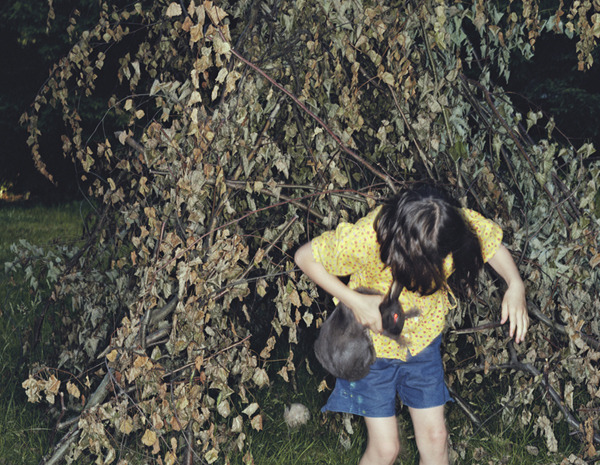 Girl and Rabbit,  2002 Pigment print on heavy rag paper 26 1/2 x 34 inches, edition of 5