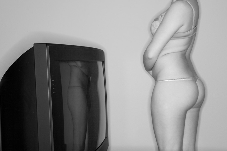 TV Set and Girl,  2003-2010 Pigment print on heavy rag paper