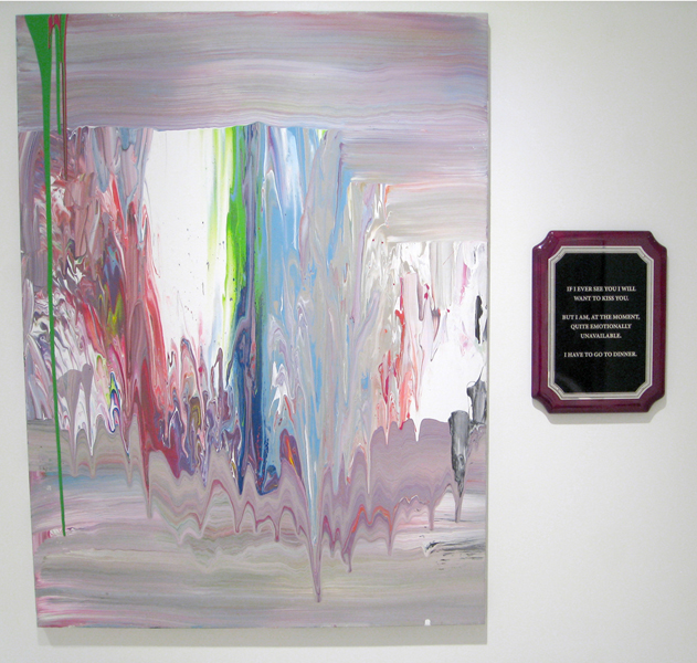 Break-Up Text Painting: I Have to Go to Dinner,  2014 Acrylic on canvas 41 x 30 inches