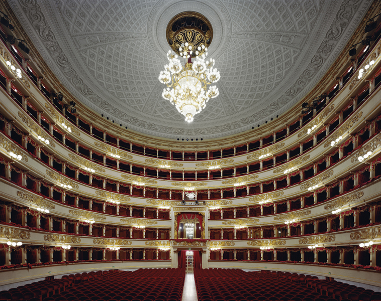 Teatro alla Scala, Milan, Italy,  2008 Fujicolor Crystal Archive print mounted to Dibond  The following work is available: 40 x 50 inches , edition of 10 50 x 60 inches, edition of 8 72 x 90 inches, edition of 3