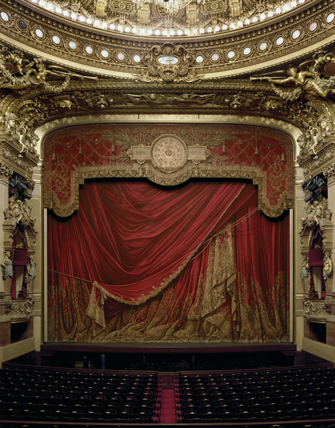 Curtain, Palais Garnier, Paris, France,  2009 Fujicolor Crystal Archive print mounted to Dibond  The following work is available: 50 x 40 inches , edition of 10 60 x 50 inches, edition of 8 90 x 72 inches, edition of 3