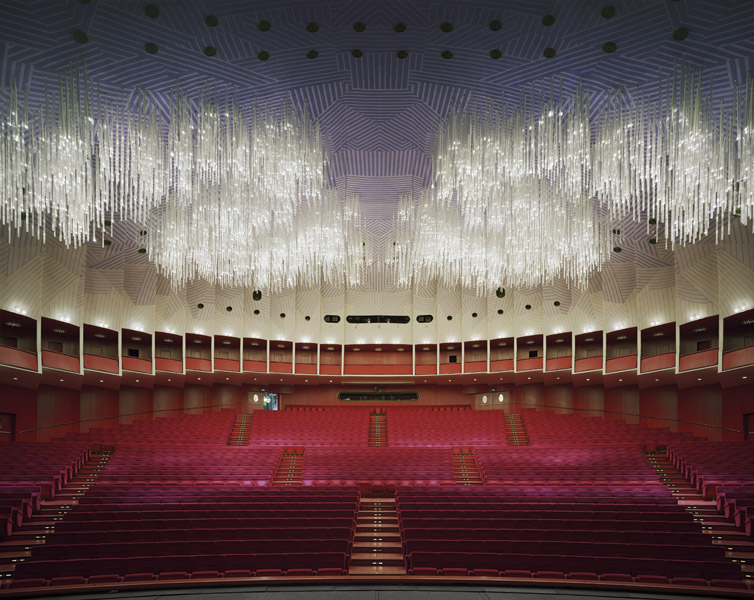 Teatro Regio, Turin, Italy,  2010 Fujicolor Crystal Archive print mounted to Dibond  The following work is available: 40 x 50 inches , edition of 10 50 x 60 inches, edition of 8 72 x 90 inches, edition of 3