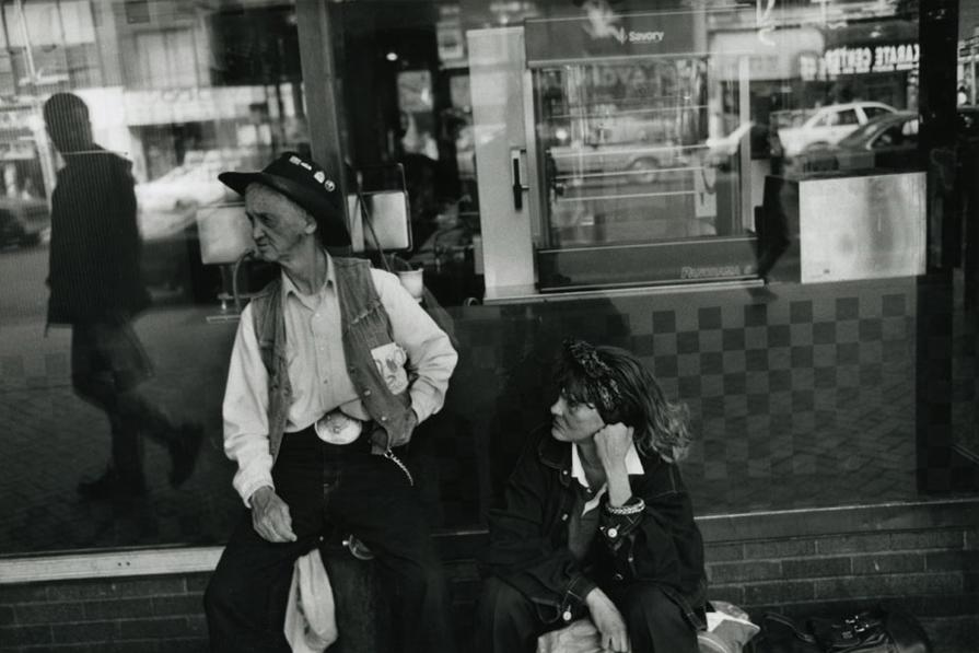 Couple Sitting, Port Authority, 1996