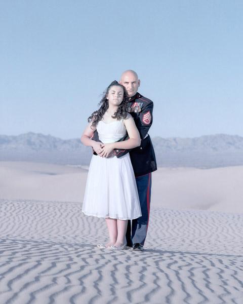 Miranda Heckert, 13 years & Jody Heckert. Yuma, Arizona., 2011