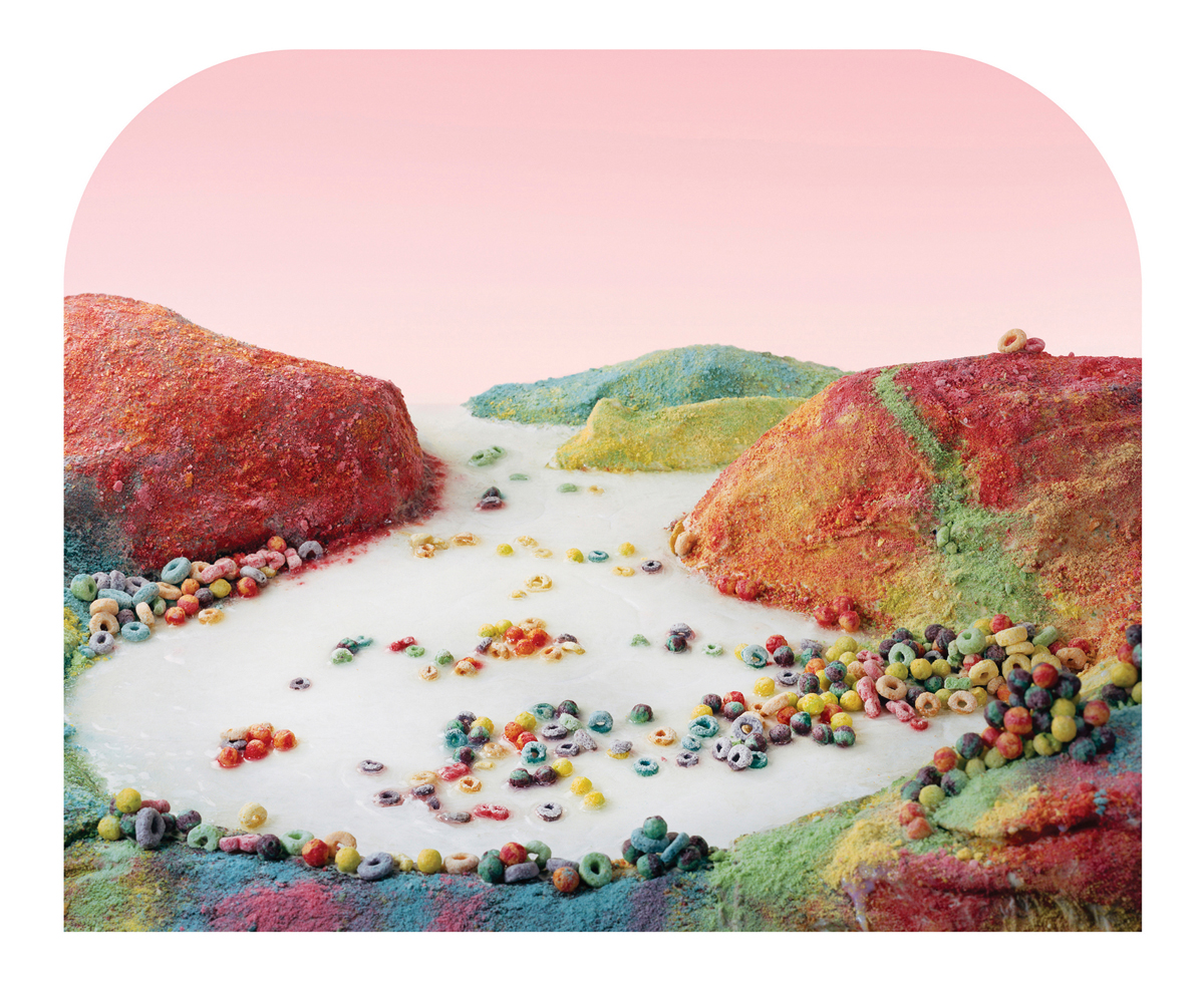 Ciurej & Lochman Collaborative Projects  Fruit Loops Landscape , 2012 Archival pigment print on Hahnemuhle bright white rag paper 18 x 22 inches Edition of 8 + 2 AP