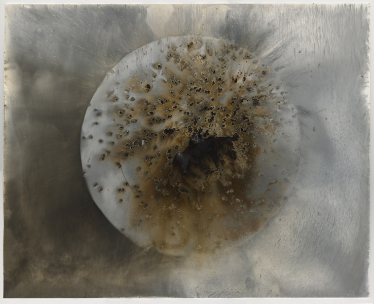Target D8 , 2016 Unique gunpowder generated gelatin silver print 16 x 20 inches