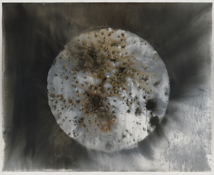 Target D9 , 2016 Unique gunpowder generated gelatin silver print 16 x 20 inches