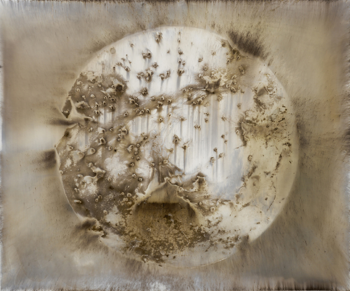 Target E2,  2015 Unique gunpowder generated gelatin silver print 20 x 24 inches