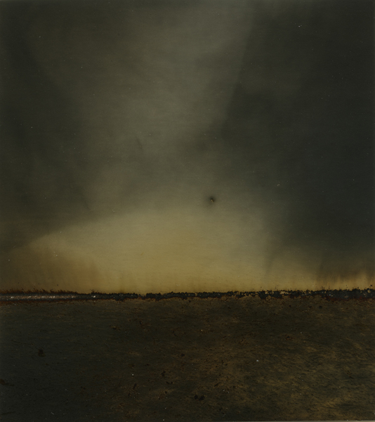 Dark Hours Horizon 59 , 2015 Unique gunpowder generated gelatin silver print 4 1/2 x 4 inches