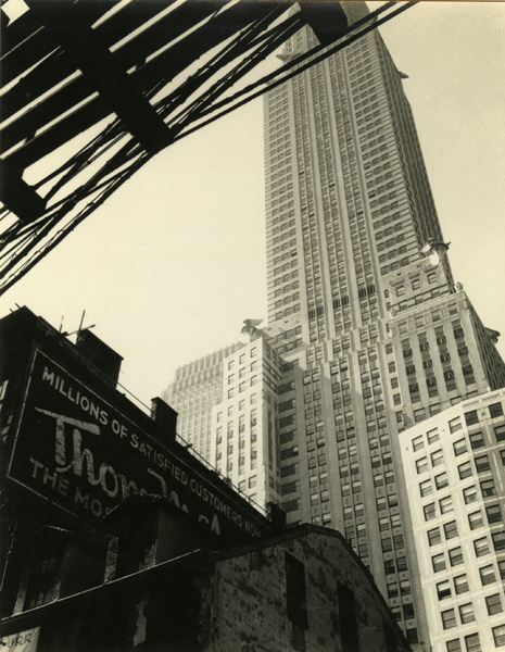 A Century of Architecture at 3rd and 43rd , 1935 Gelatin silver print 8 3/4 x 7 7/8 inches