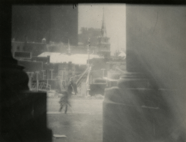 The Blizzard , 1923 Waxed platinum print 4 5/8 x 6 1/4 inches