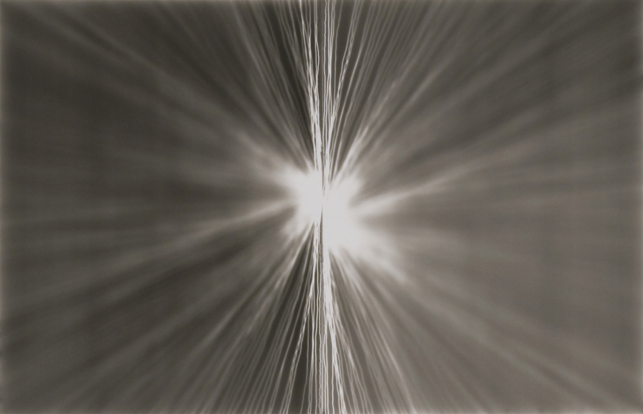 Maureen McQuillan  Untitled Photogram (Flash) , 2009 Gelatin silver print 11 x 17 inches Courtesy of McKenzie Fine Art