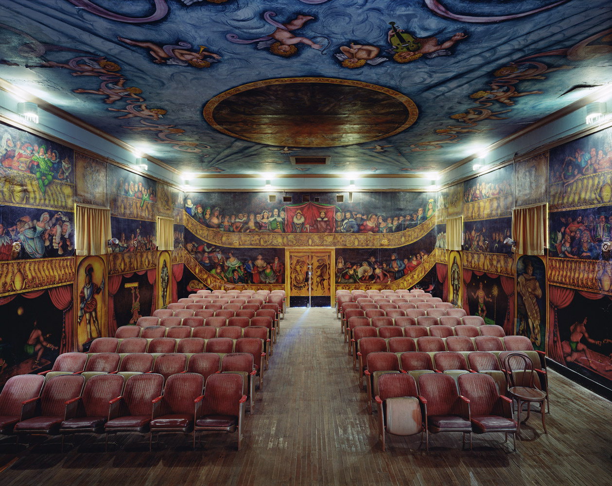 Armagosa Opera House, Death Valley Junction, United States, 2009, by David Leventi. Archive print on Dibond of the interior of the theatre.