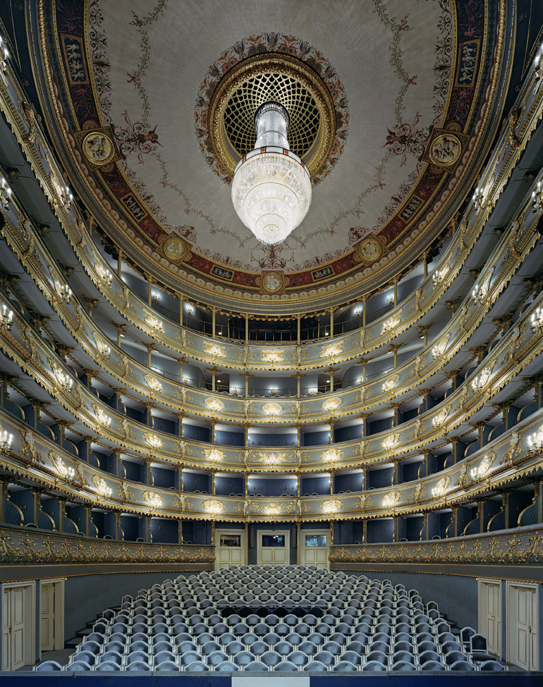Stavovské Divadlo, Prague, Czech Republic, 2008, by David Leventi. Archive print on Dibond of the interior of The Estates Theatre.