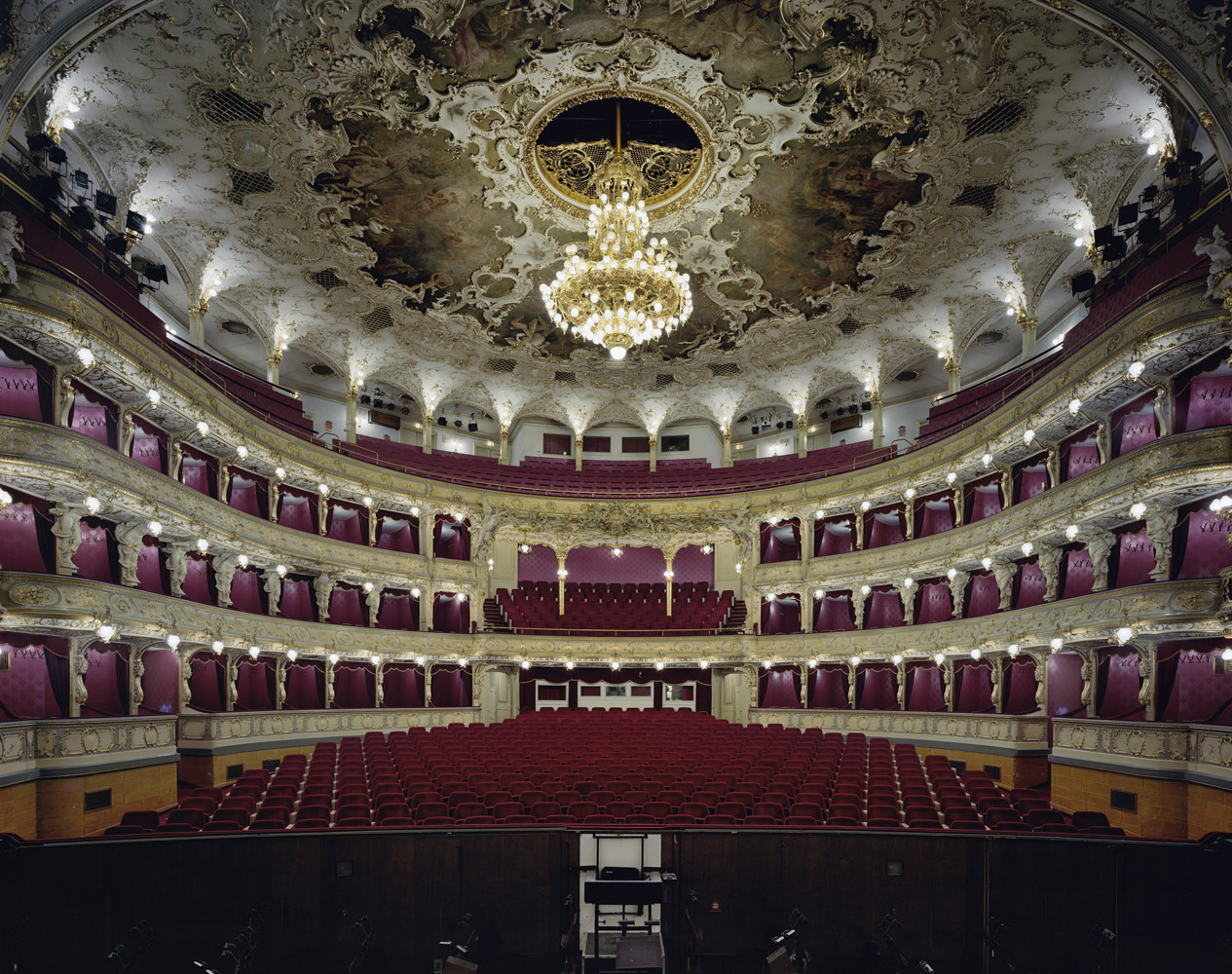 Státní Opera, Prague, Czech Republic, 2008, by David Leventi. Archive print on Dibond of the interior of  The State Opera house.