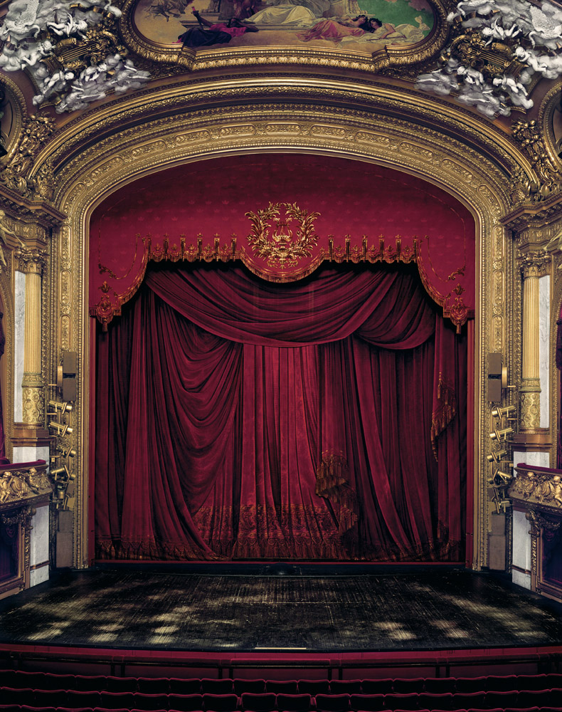 Curtain, Kunliga Operan, Stockholm, Sweden, 2008, by David Leventi. Archive print on Dibond of the Royal Swedish Opera theatre's stage curtain.