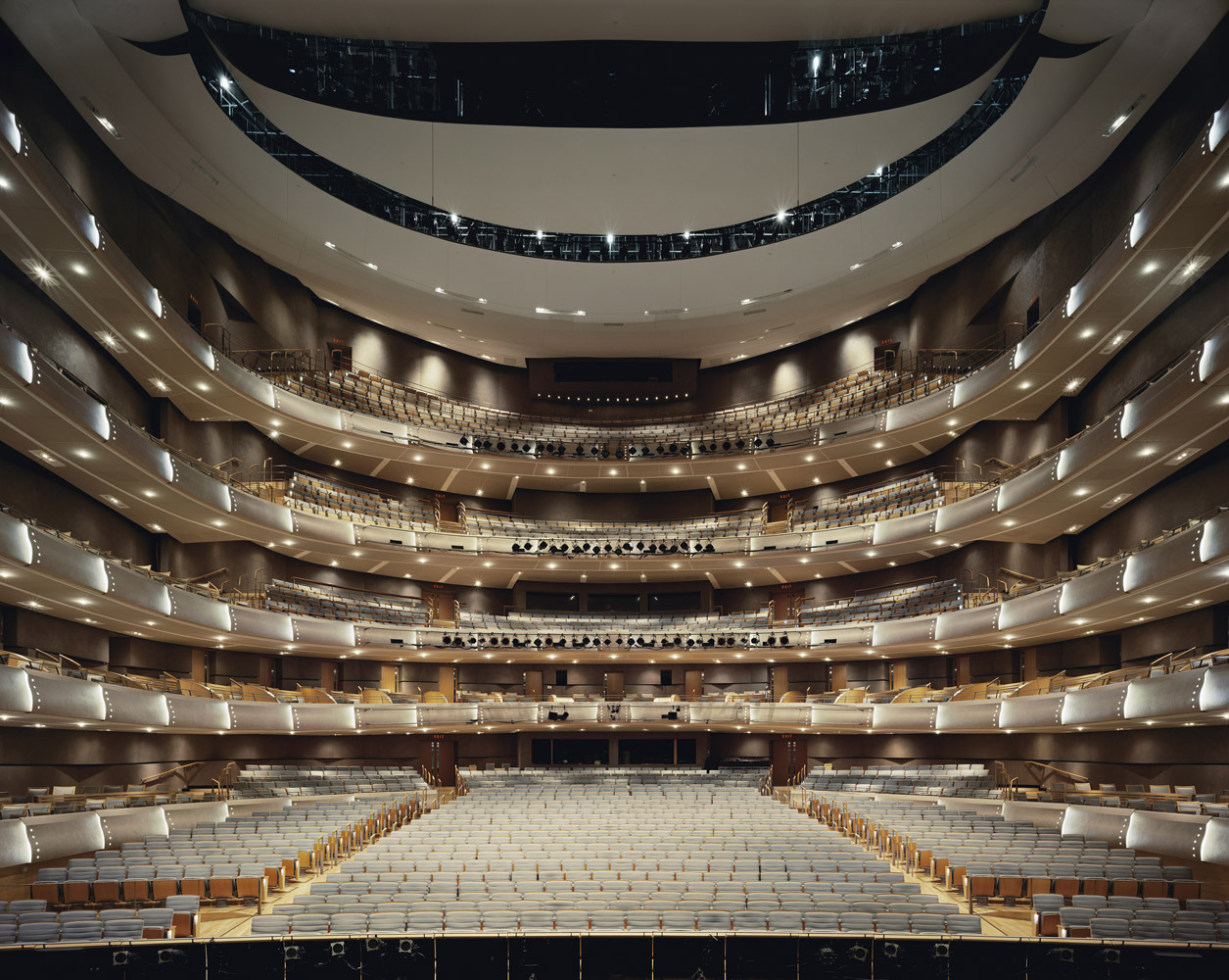 Four Seasons Centre for the Performing Arts, Toronto, Canada, 2011, by David Leventi. Archive print on Dibond of the interior of the theatre