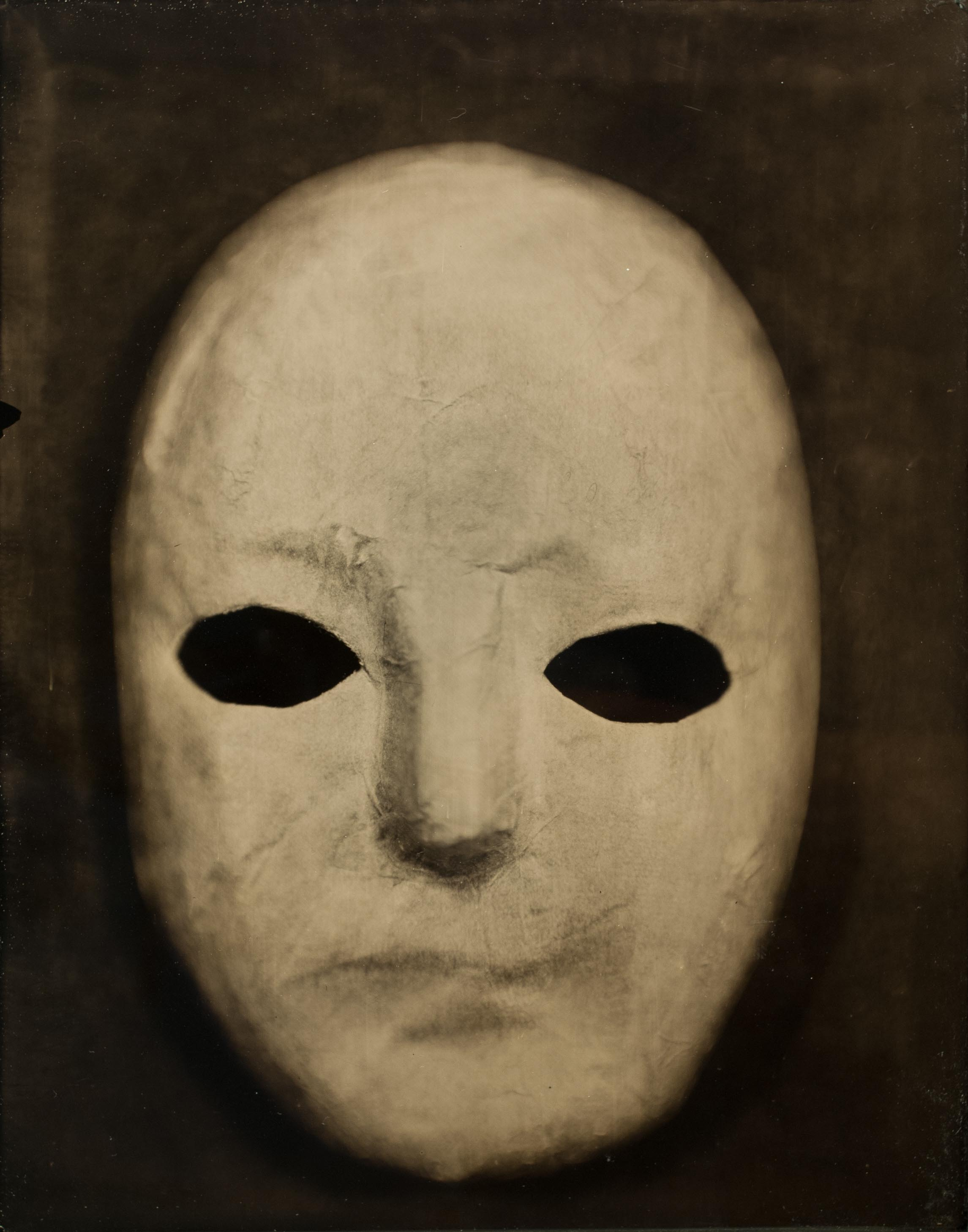 Willie OSTERMAN  Masking Portrait #71 , 2016 Tintype 14 x 11 inches