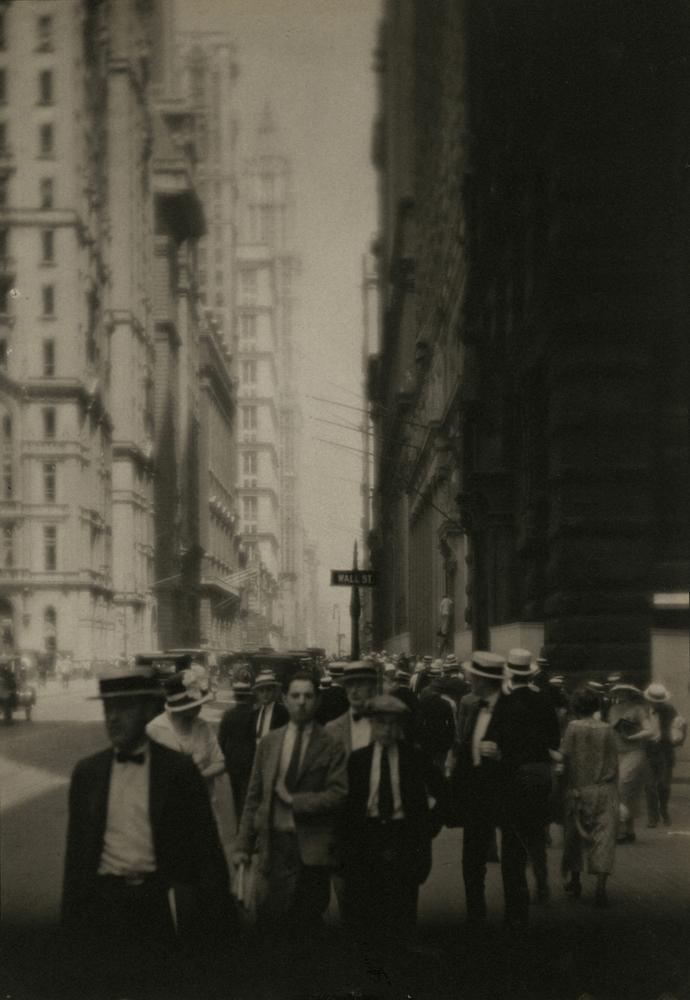 Ira Wright Martin  Wall Street , 1921-1925 Platinum or palladium print 6 3/4 x 4 5/8 inches