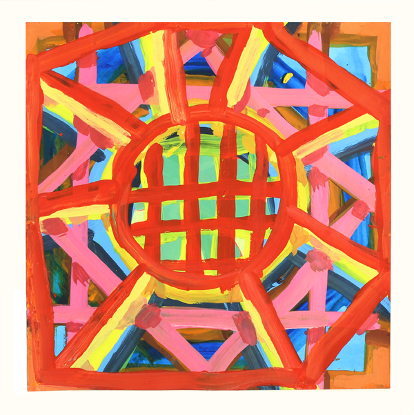 Cat Balco  Timber Circle , 2018 Gouache on paper 8 x 8 inches